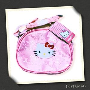 SANRIO Hello Kitty Pink Mini Nylon Crossbody Bag